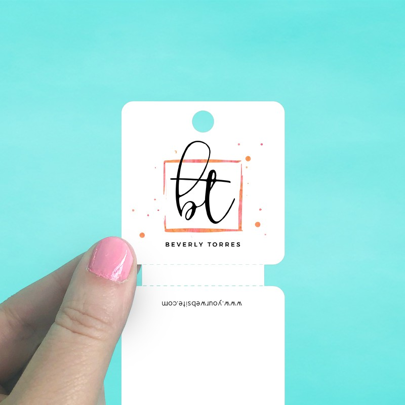 Rounded Square Perforated Fold Over Tag