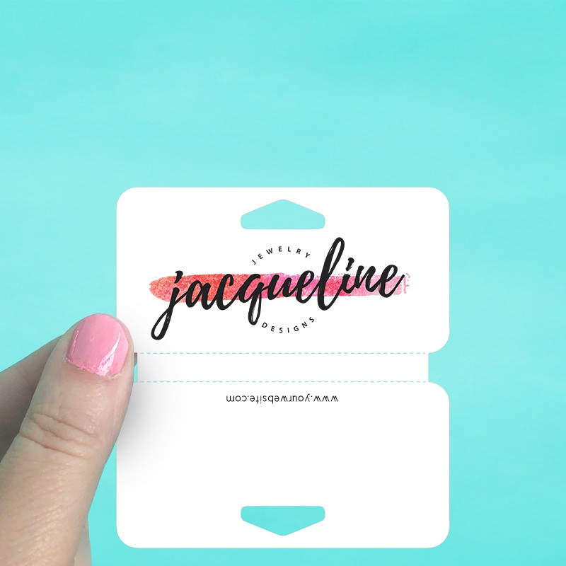 Small Wide Perforated Fold Over Tags
