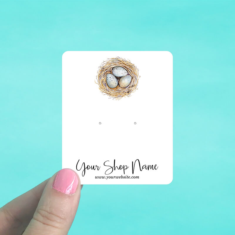 Bird's Nest Jewelry Display Cards