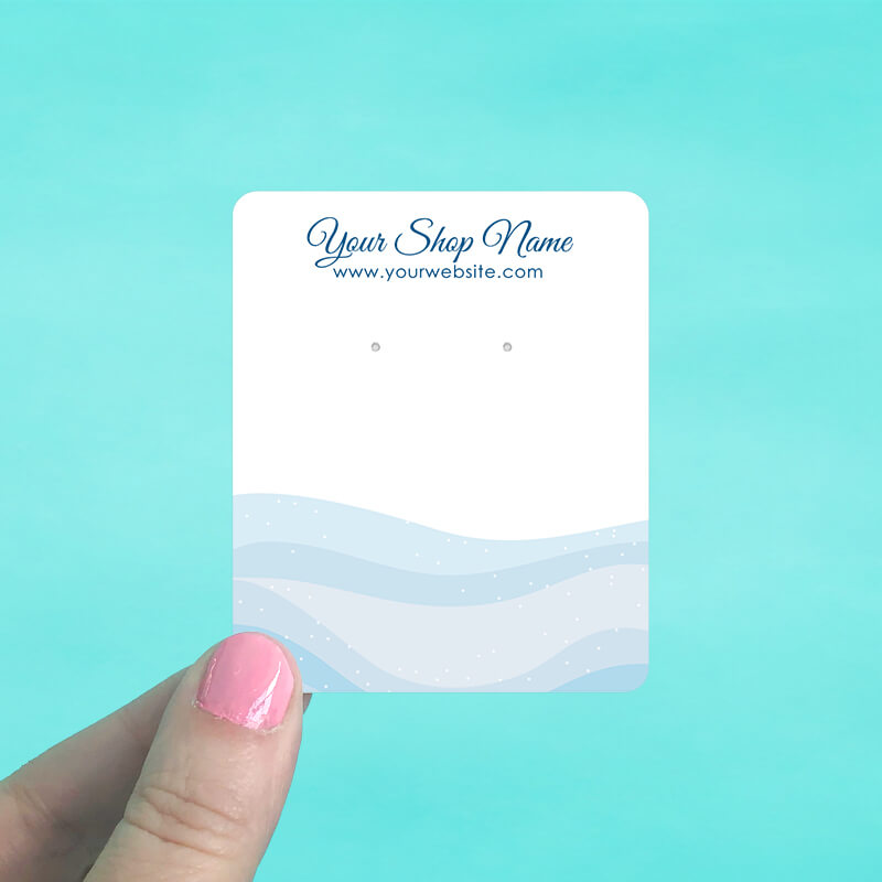 Blue Ocean Jewelry Display Cards