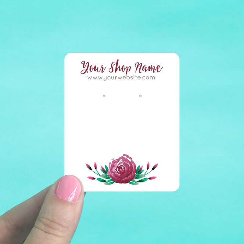 Burgundy Rose Jewelry Display Cards