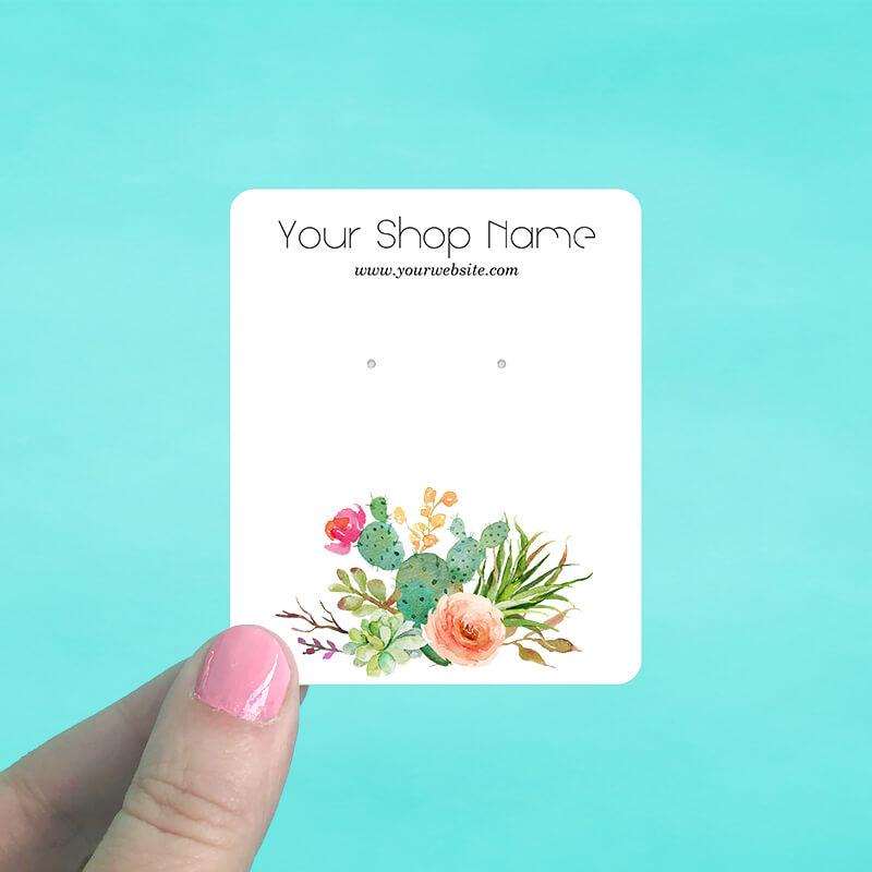 Cactus Rose Jewelry Display Cards