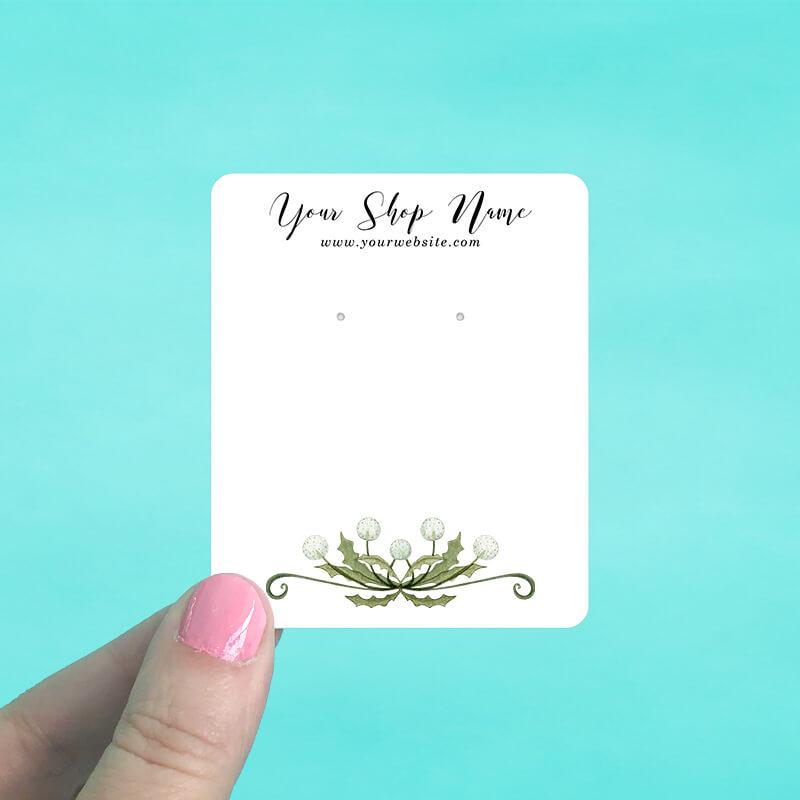Dandelion Bouquet Jewelry Display Cards