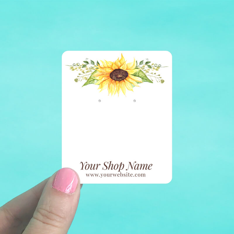 Sunflower Jewelry Display Cards