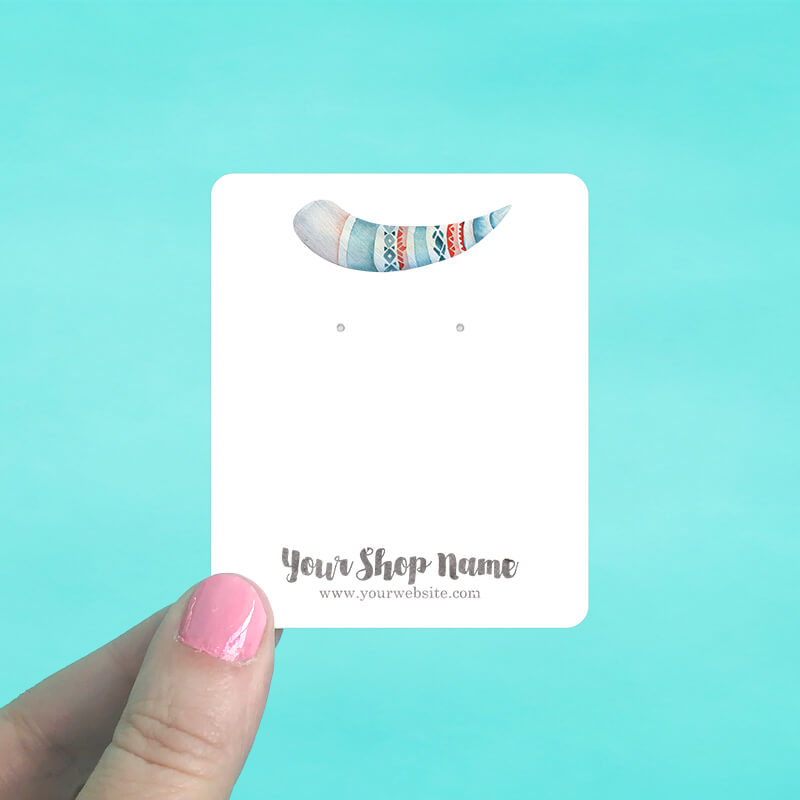 Tribal Horn Jewelry Display Cards