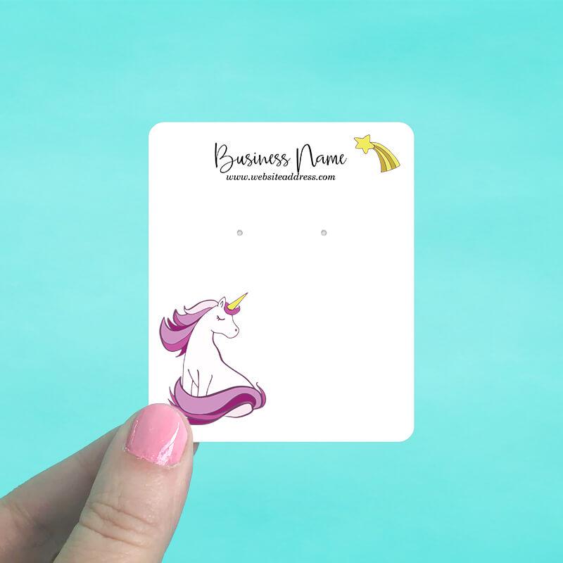 Unicorn Star Jewelry Display Cards