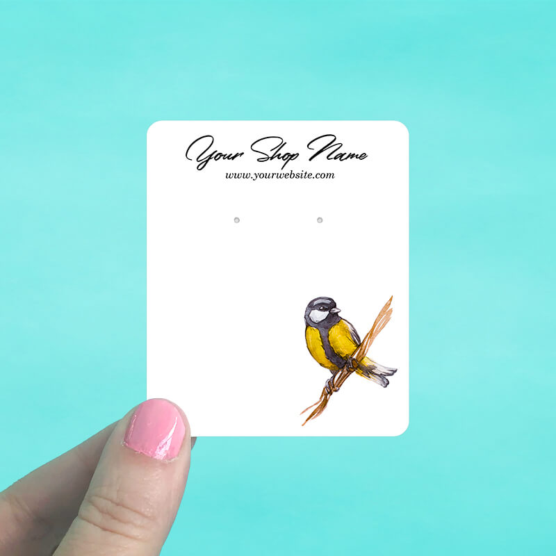 Yellow Bird Jewelry Display Cards