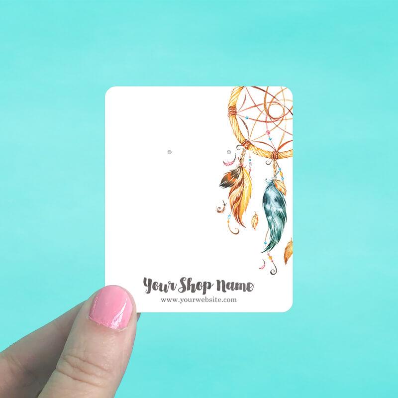 Watercolor Dreamcatcher Jewelry Display Cards