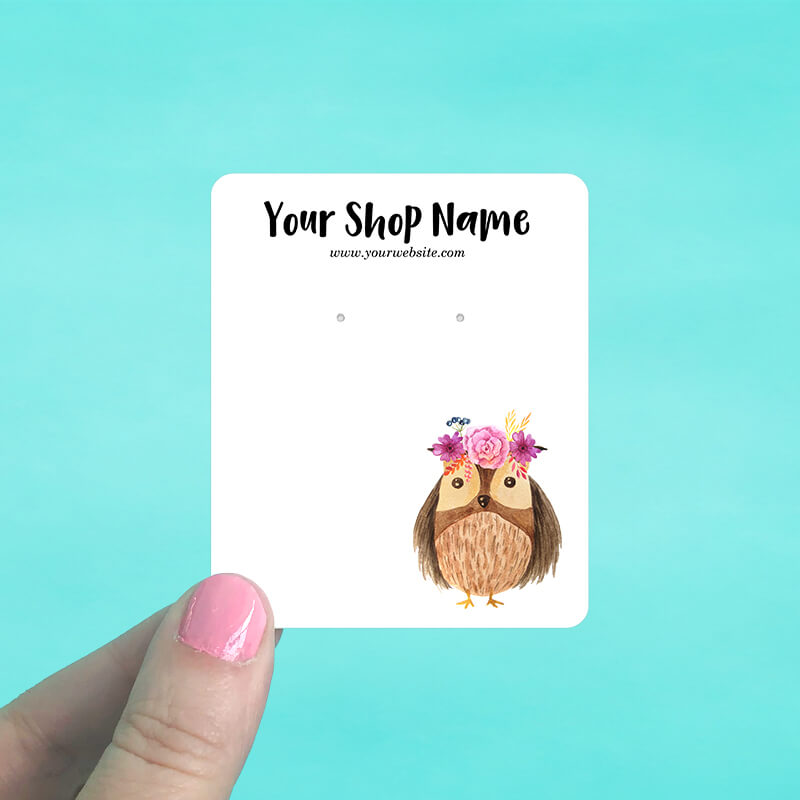 Baby Owl Jewelry Display Cards