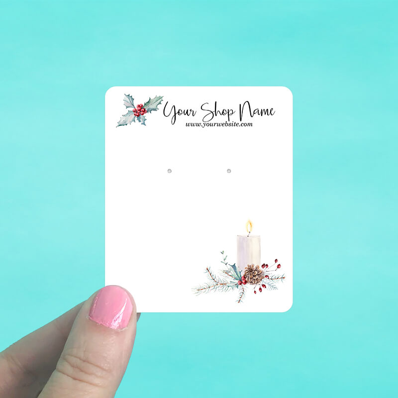 Holly Candle Jewelry Display Cards
