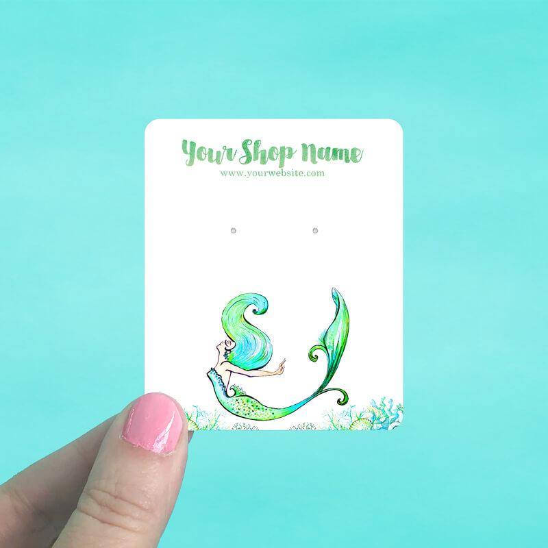 Mermaid & Coral Display Cards
