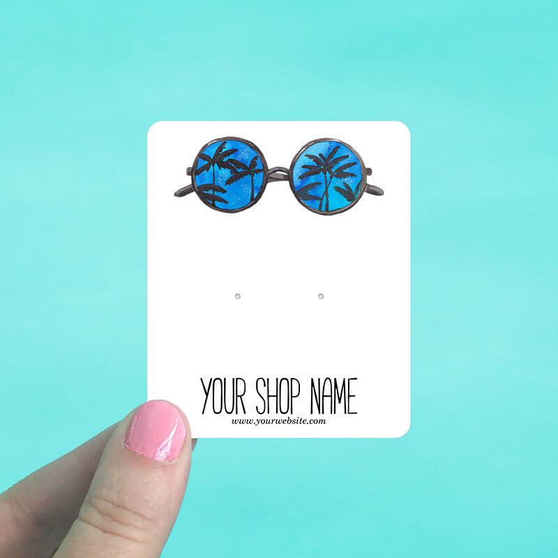 Palm Sunglasses Jewelry Display Cards