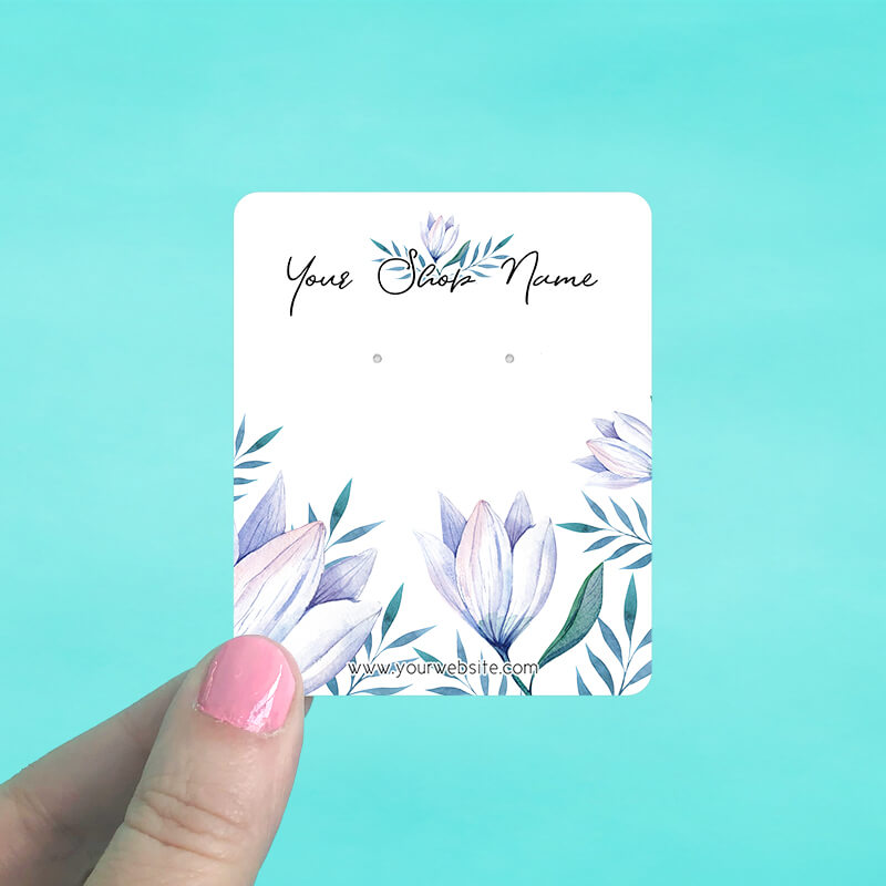 Elegant Floral Jewelry Display Cards