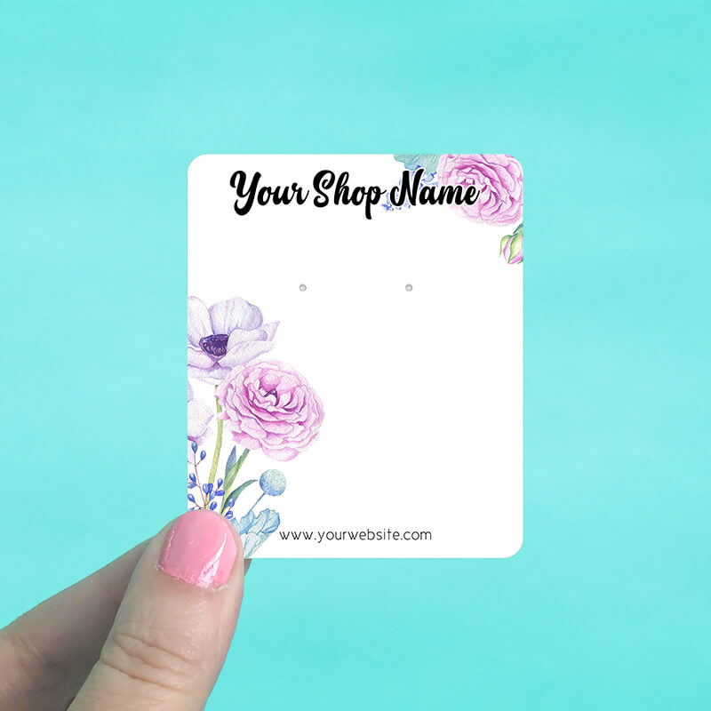 Spring Flowers Jewelry Display Cards