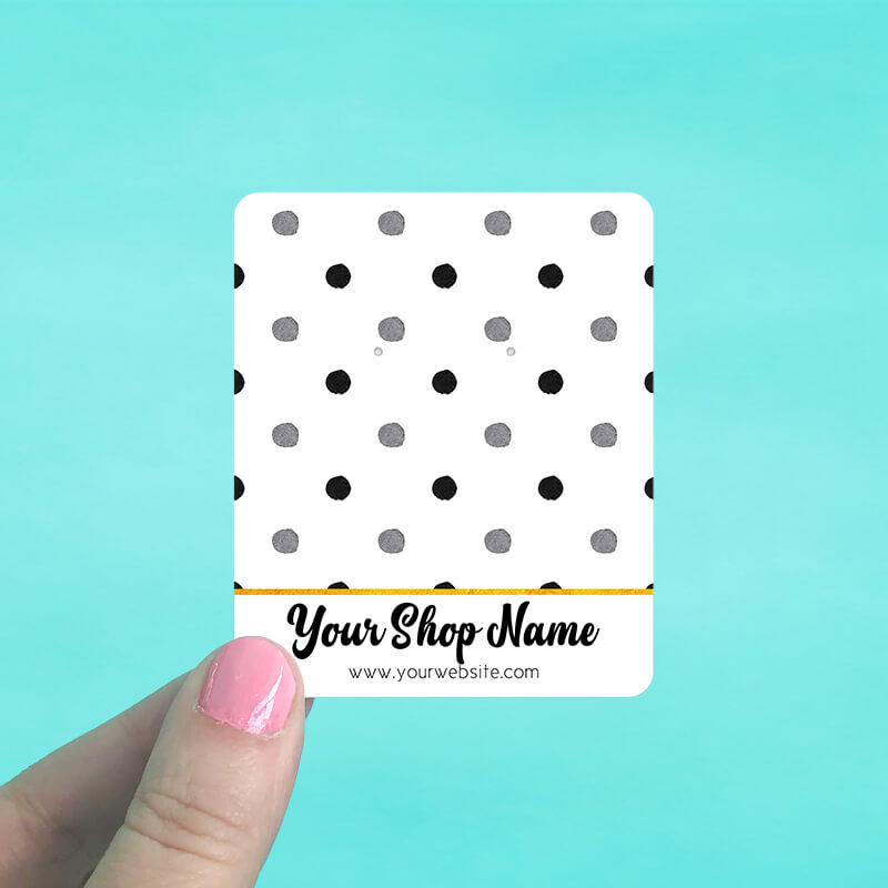 Polka Dot Jewelry Display Cards
