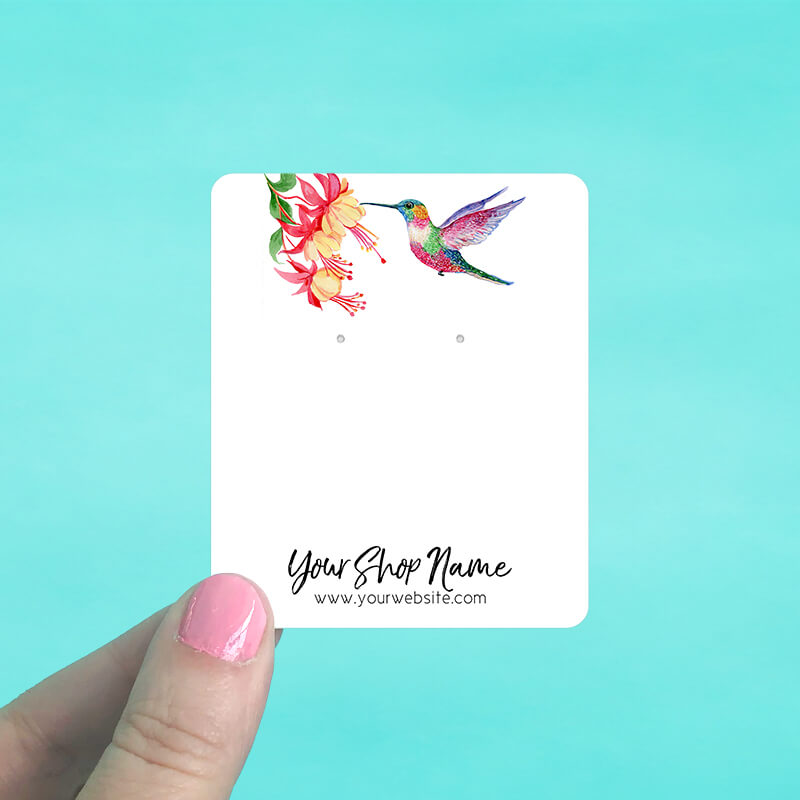 Hummingbird Jewelry Display Cards