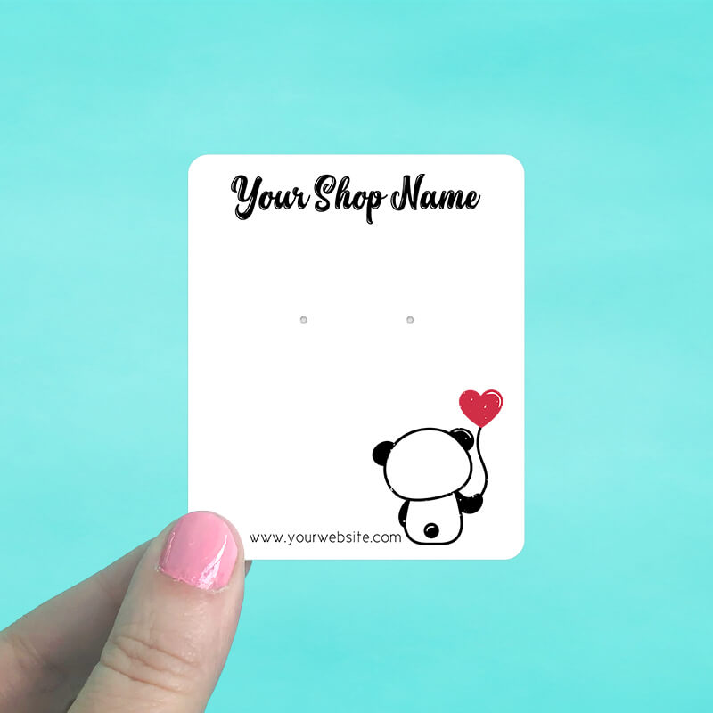 Panda Heart Balloon Jewelry Display Cards