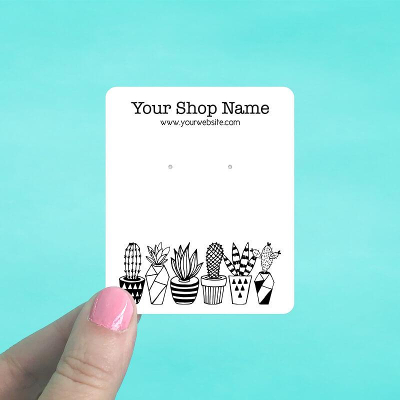 Cactus Planters Jewelry Display Cards