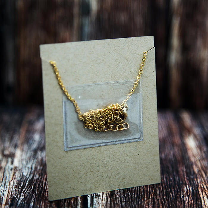 Small Necklace Chain Adhesive Pouch