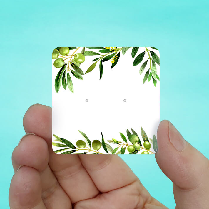 Olive Branch Stud Earring Cards