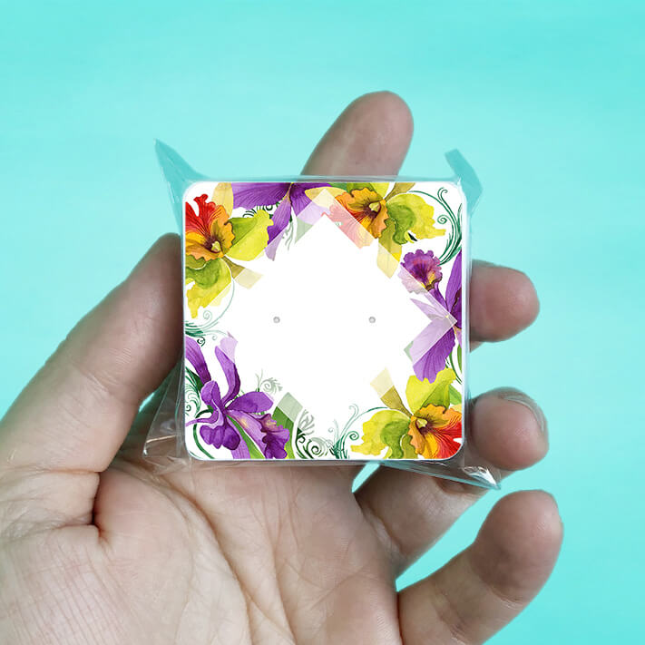 Spring Orchid Stud Earring Cards