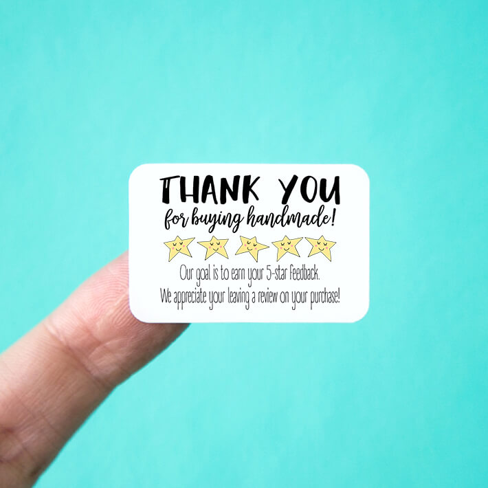 Thank You Five Star Feedback Stickers
