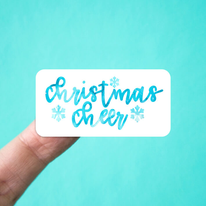 Christmas Cheer & Snowflakes Stickers
