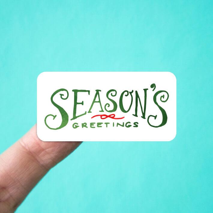 Seasons Greetings Stickers