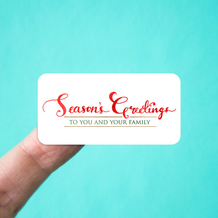 Seasons Greetings to You and Your Family Stickers