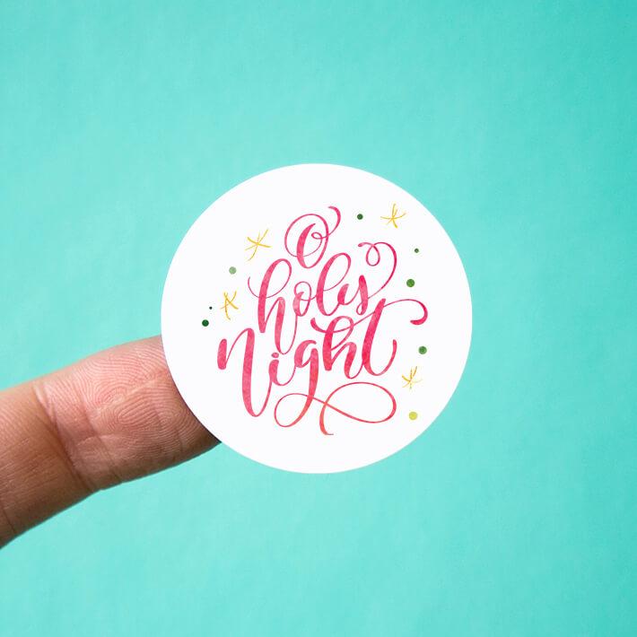 Oh Holy Night & Stars Stickers