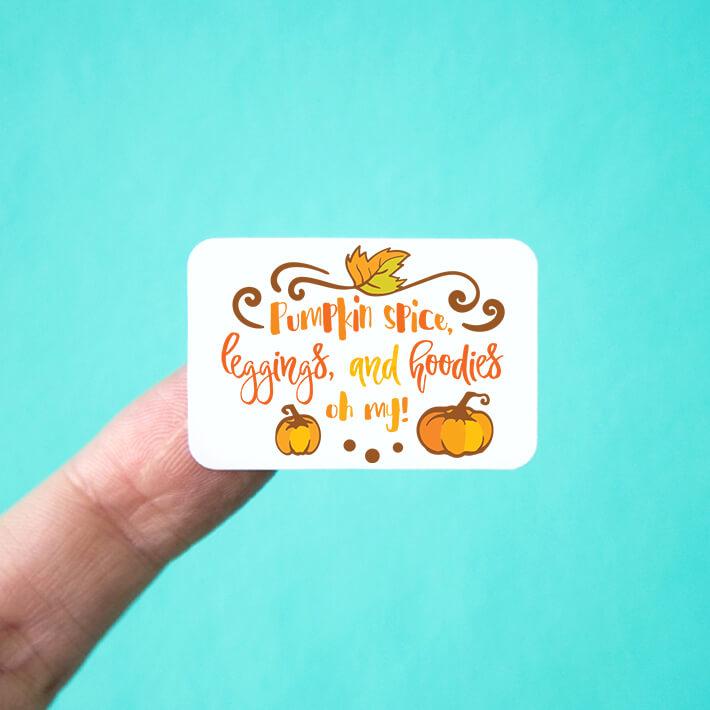 Pumpkin Spice, Leggings, and Hoodies Stickers