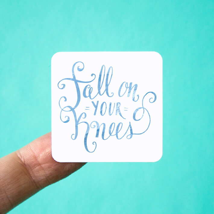 Fall on your Knees Holiday Stickers