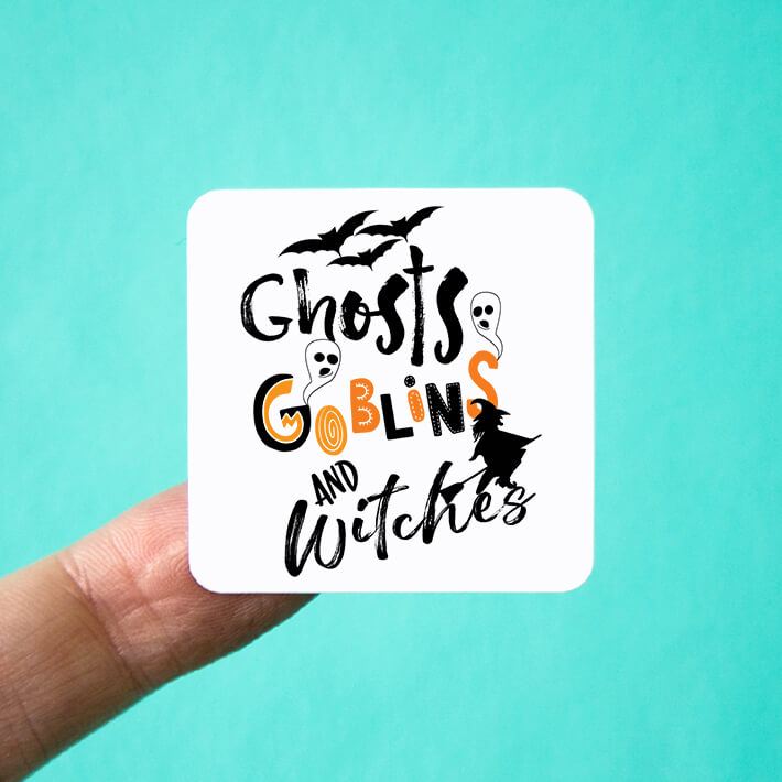 Ghosts Goblins and Witches Stickers