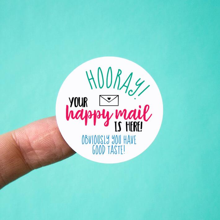 Hooray Happy Mail Stickers