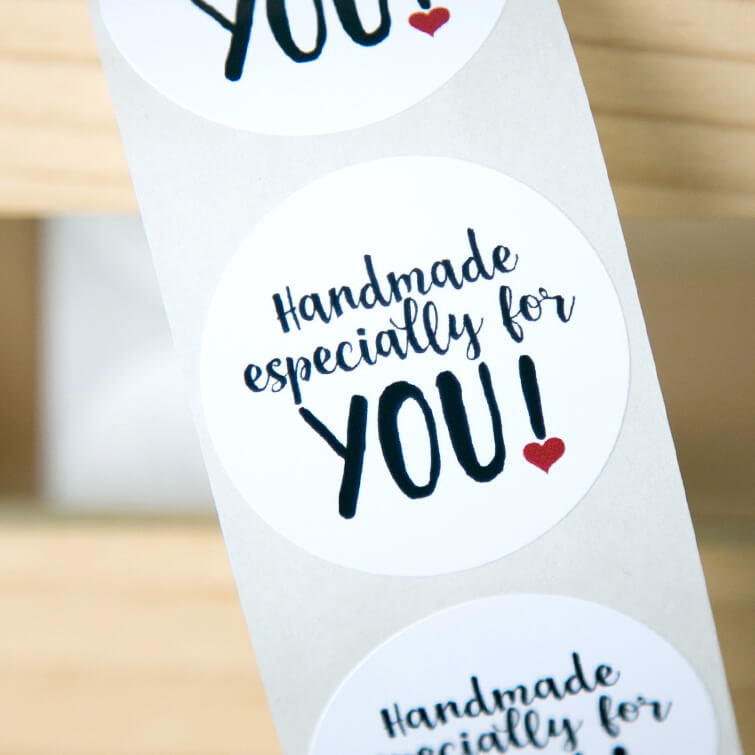 Handmade Especially for You Stickers