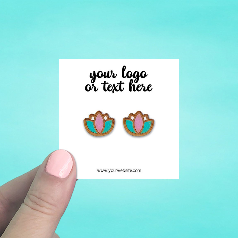 """Set of 70 2.5 x 2.5"""" Square Earring Display Cards"""