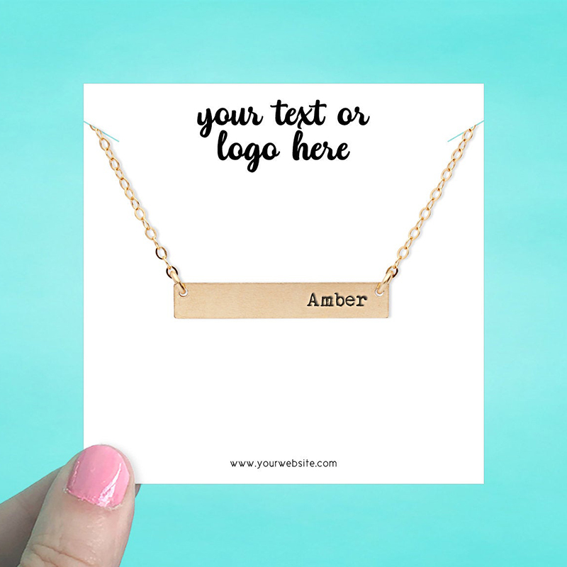 """Set of 34 3.5 x 3.5"""" Square Necklace Display Cards"""