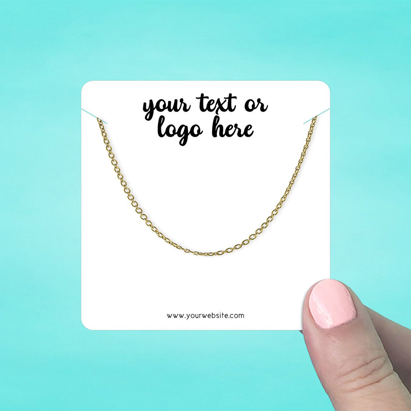"""Set of 42 3 x 3"""" Rounded Square Necklace Display Cards"""