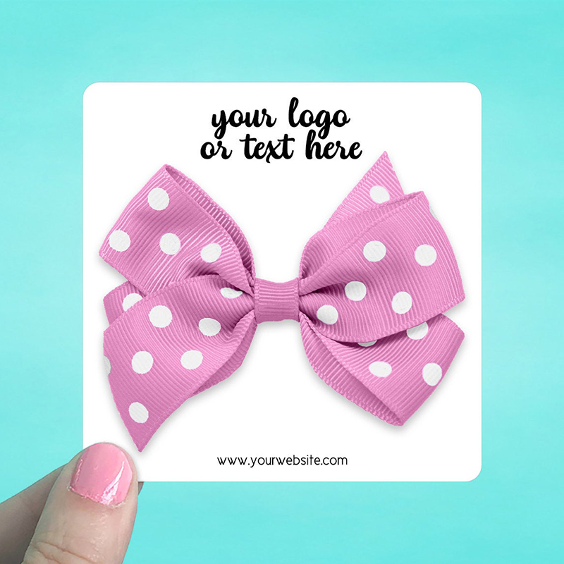 """Set of 34 3.5 x 3.5"""" Rounded Square Hair Bow Display Cards"""
