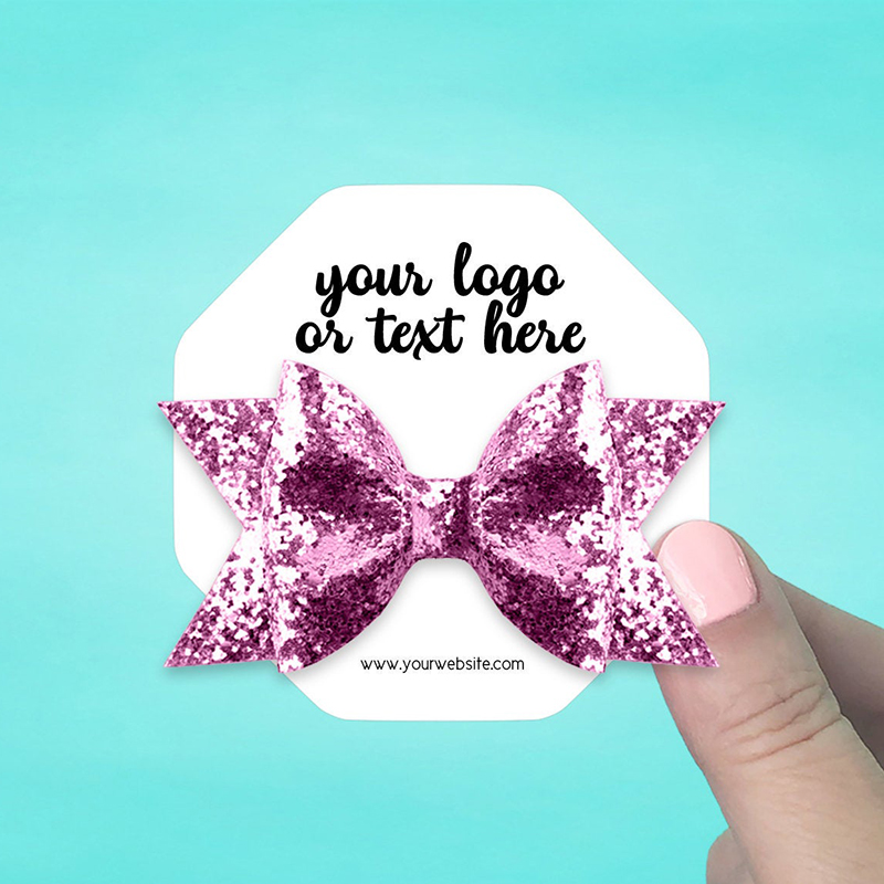 """Set of 42 3 x 3"""" Octagon Hair Bow Display Cards"""