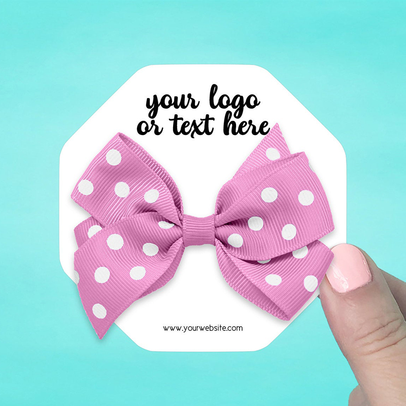 """Set of 34 3.5 x 3.5"""" Octagon Hair Bow Display Cards"""