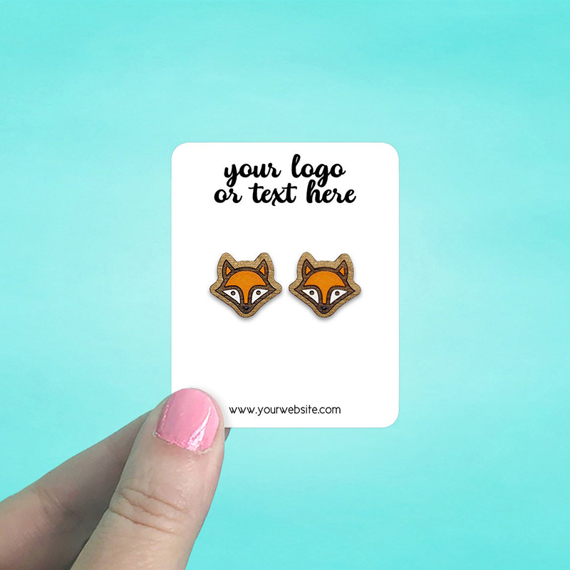 """Set of 86 2 x 2.5"""" Rounded Rectangle Earring Display Cards"""