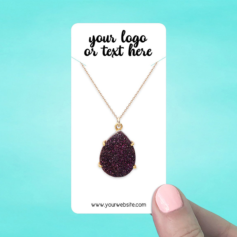 """Set of 58 2 x 4"""" Rounded Rectangle Necklace Display Cards"""