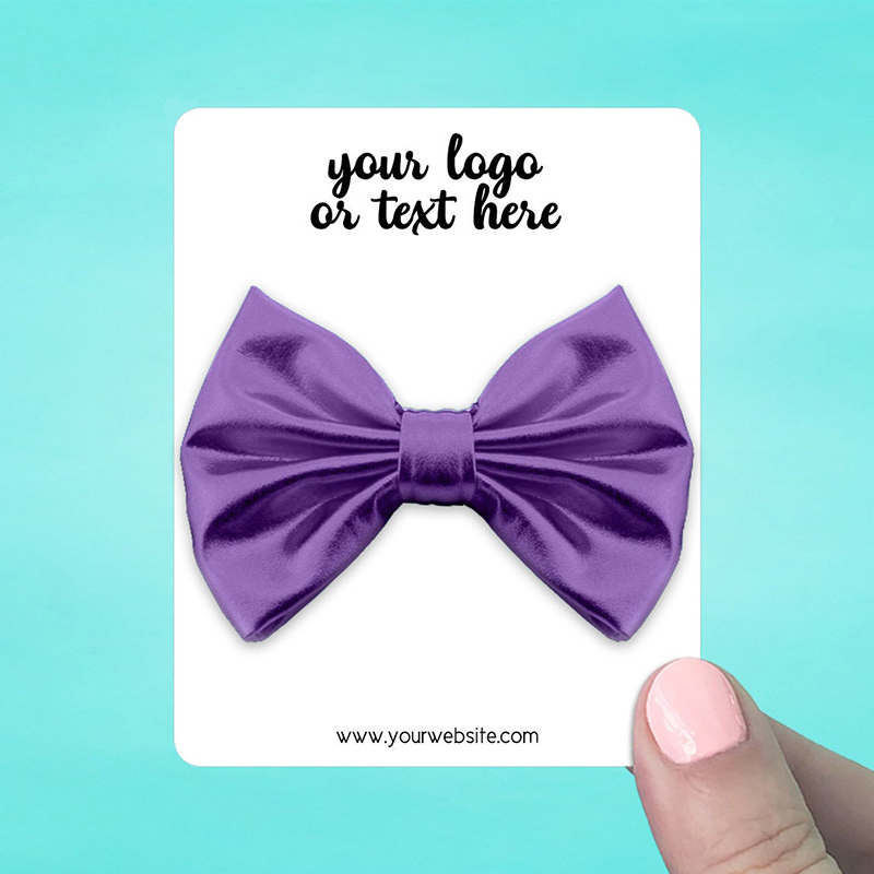 """Set of 34 3 x 3.75"""" Rounded Rectangle Hair Bow Display Cards"""