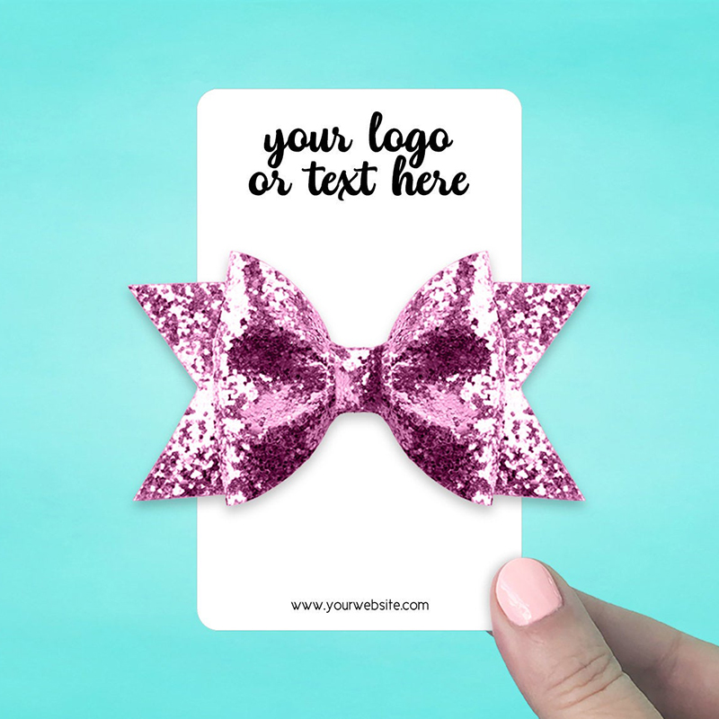 """Set of 28 3 x 5"""" Rounded Rectangle Hair Bow Display Cards"""