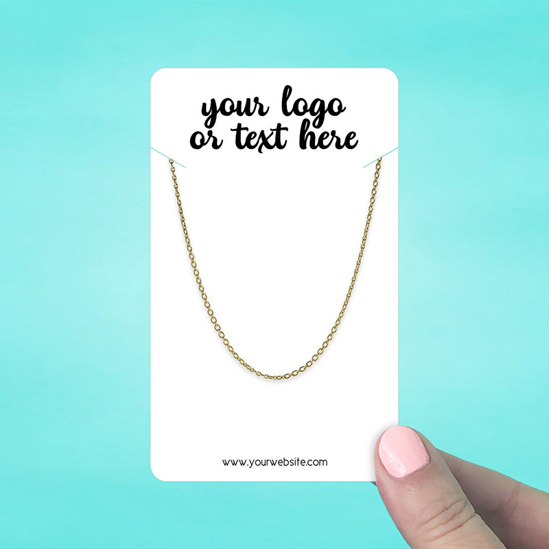 """Set of 28 3 x 5"""" Rounded Rectangle Necklace Display Cards"""