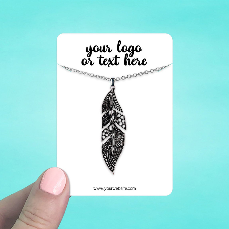 """Set of 45 2.5 x 3.5"""" Rounded Rectangle Necklace Display Cards"""