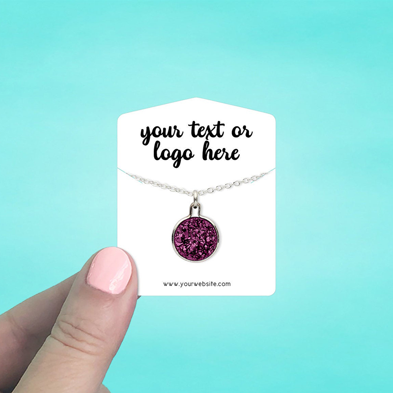 """Set of 86 2 x 2.5"""" Tent Top Necklace Display Cards"""