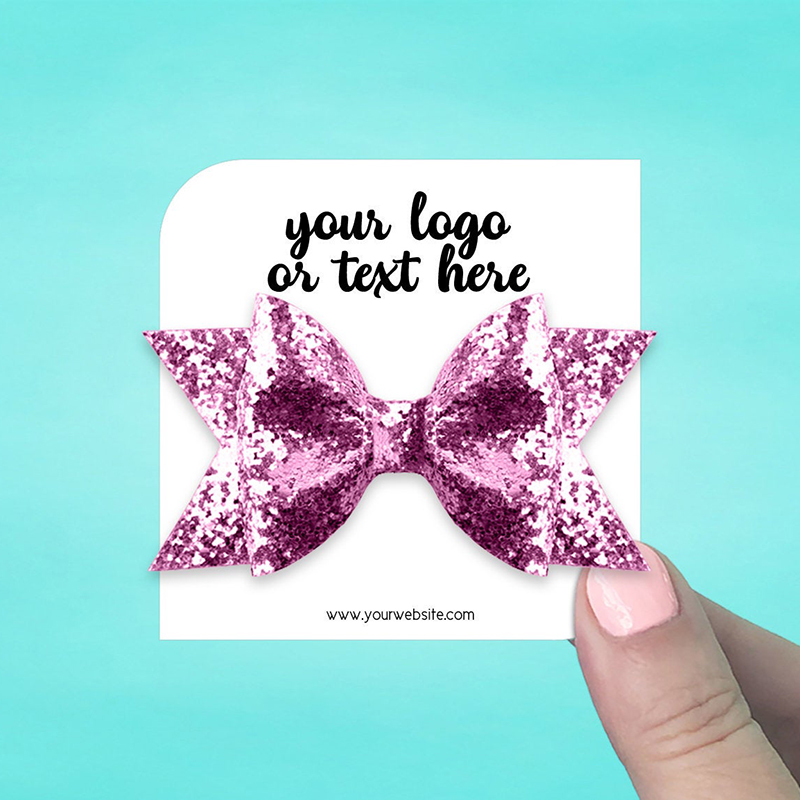"""Set of 42 3 x 3"""" Square Leaf Hair Bow Display Cards"""