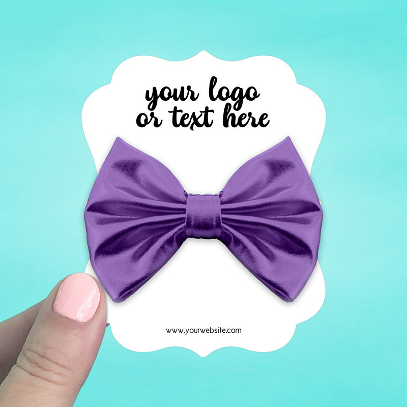 """Set of 34 3 x 3.75"""" Ornate Hair Bow Display Cards"""